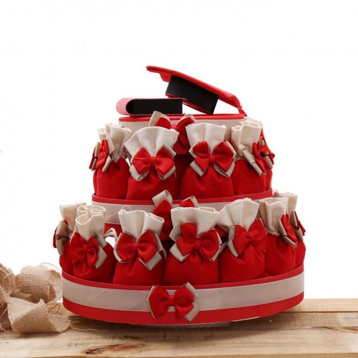 Torte Bomboniere con Sacchettoni per Laurea Basic Confettata