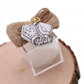 Bomboniere Santa Cresima Confezionate Magnete Cappello e Bastone Santa Cresima su plexiglass