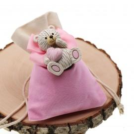 Bomboniere Nascita e Battesimo Confezionate Magnete Orsetto dolce Cuore Bimba
