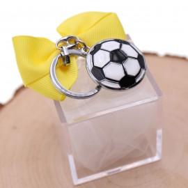 Bomboniere Con Plexiglass  Confezionato Portachiave Pallone da Calcio su plexiglass compleanno
