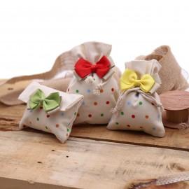 Bomboniere Compleanno Sacchetti a Pois Colorati Fiocchi con Confetti