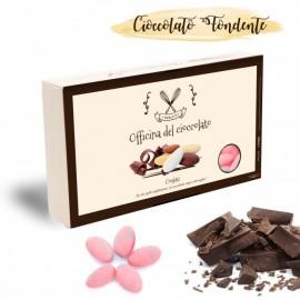 Confetti al Cioccolato fondente di colore Celeste per la Nascita di un maschietto o per Confettate Battesimo