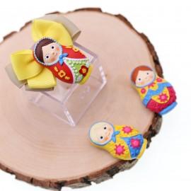 Bomboniere Compleanno Con Confetti Magnete Matrioske Colorate