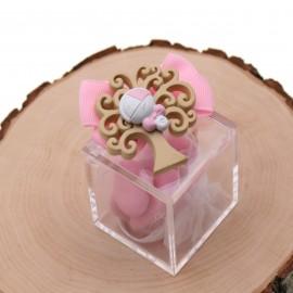 Albero della Vita Battesimo per Bomboniere Nascita con confetti Magnete Albero della Nascita Bimba Su Plexiglass