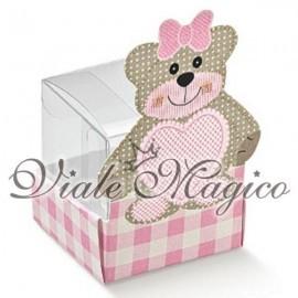 Astuccio Scatolina PVC Teddy Rosa