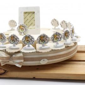 prima comunione Torte Bomboniere Statuina Sacro Albero della Vita con Sacra Famiglia