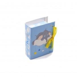 Astuccio Disney Dumbo maschietto con confetti per bomboniera nascita.