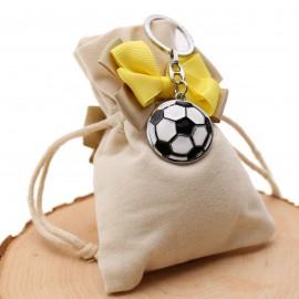 Bomboniere Con Sacchetto Confezionato Portachiave Pallone da Calcio