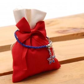 Bomboniera Compleanno Ciondolini Braccialetto Mini Stella London con Sacchetto