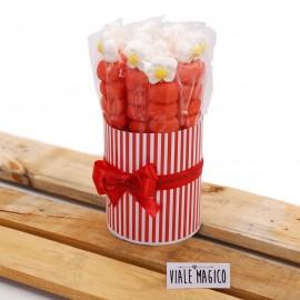 Box Marshmallow Flower con Caramelle Rosse