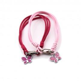 Bomboniere Nascita mini Ciondolo Farfalline Rosa e Fucsia Glitter
