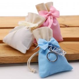 Bomboniera Battesimo Amore Infinito Maternita Portachiave con Confetti e Sacchetto