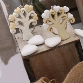 Portachiavi Albero della Vita con Cuori Bomboniera Matrimonio Faidate