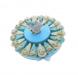 Torta Bomboniera Nascita con Magnete Unicorno