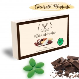 Confetti al Cioccolato fondente di colore verde per una promossa di matrimonio