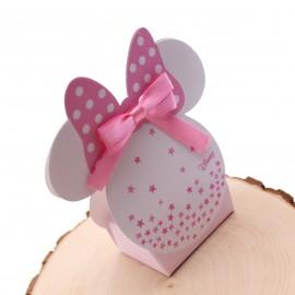 Bomboniere Nascita Minnie Orecchie Astuccio Star con Confetti