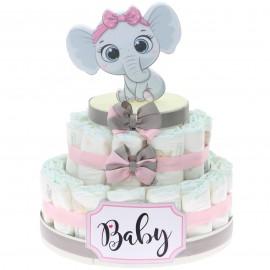 Torta Pannolini Elefante Effye Bimba da 30