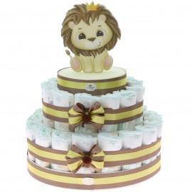 Torta Leone Pannolini, nascita neonato o baby shower bimbo