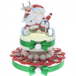 Babbo Natale con la sa slitta