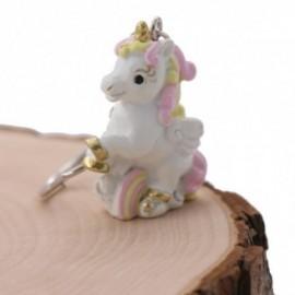 Unicorno Arcobaleno Rosa Portachiavi Bomboniera Bimba Fai da Te