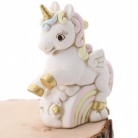 Salvadanaio Unicorno Arcobaleno Rosa Bimba Fai da Te