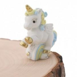 Unicorno Arcobaleno Bomboniera Bimbo Fai da Te Statuina