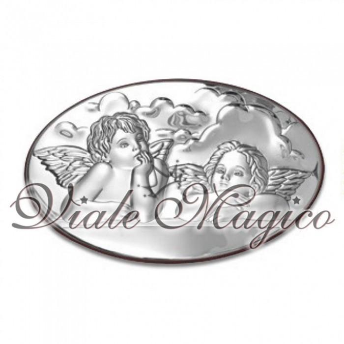 Icona Ovale con Puttini in Argento