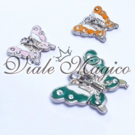 Ciondolo Farfalla con Strass Mix Color