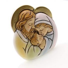 Bomboniera Battesimo FaiDaTe Sagoma Sacra Famiglia Statuina Maxi (Kit 12 Pezzi) 1127C