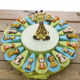 Animali della Savana Calamite Torta Bomboniere torta da 20