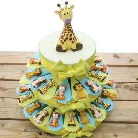 Animali della Savana Calamite Torta Bomboniere torta da 35