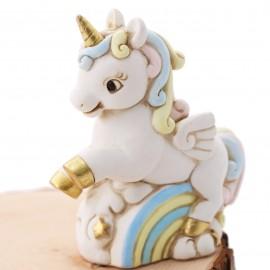 Salvadanaio Unicorno Arcobaleno Bimbo Fai da Te