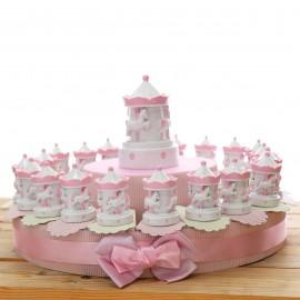 Torte Bomboniere Nascita Carillon Bimba Statuina Pensierini Giostra