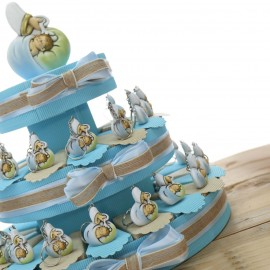 Torta Bomboniere Santo Battesimo Bimbo Portachiavi