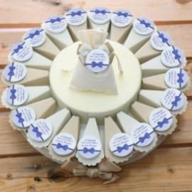 Papillon Blu Torta Bomboniere Personalizzate Eleganti Accessori Compleanno