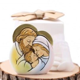 Sagoma Sacra Famiglia Bomboniera Battesimo e Comunione Confezionata