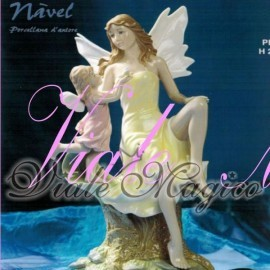 Bomboniera Navel Fatina con Angelo in Porcellana