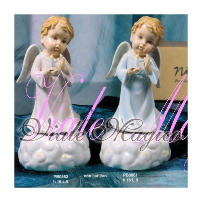 Bomboniera Navel Angeli con Candela in Porcellana