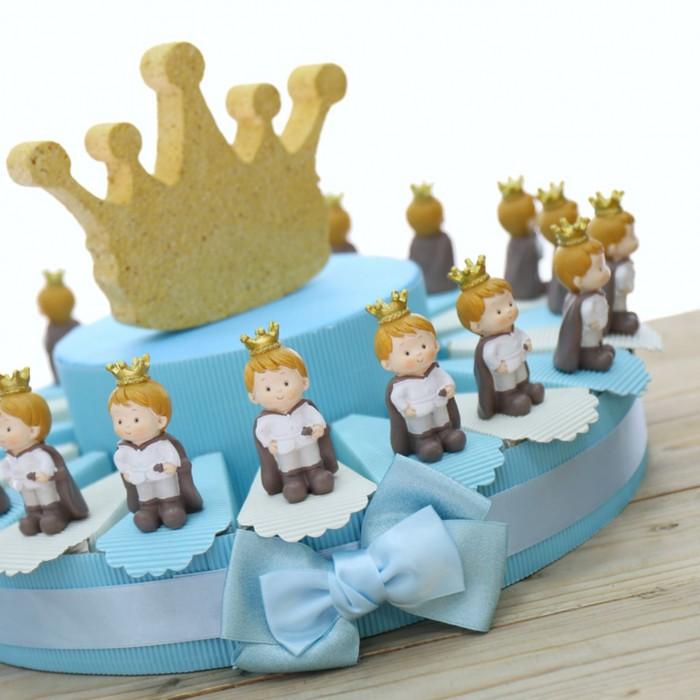 Bomboniere Piccolo Principe per Battesimo Bimbo Statuine su Torta Portaconfetti