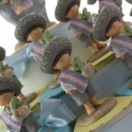 Fiesta Baby Bimbo Comunione Statuina su Torta Bomboniere Maxi per Maschio