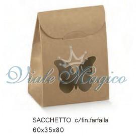 Sacchetto Portaconfetti con Farfalla Linea Natural