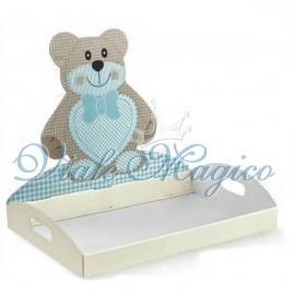 Vassoio Contenitore Teddy Bear Azzurro