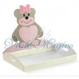 Vassoio Contenitore Teddy Bear Rosa