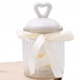 Barattolo Romantico per dolci e ingredienti Regalo o Bomboniera