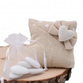 Sacchetti con cuoricino Bomboniere confezionate diversi modelli