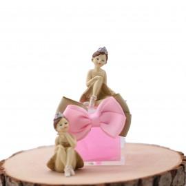 Ballerina Princess Ivory Statuina Confezionata con Confetti