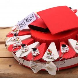 Torta Portaconfetti Portachiave Coccinella con accessori