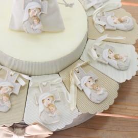 Maternità Torte Bomboniere con Croce linea Glitter