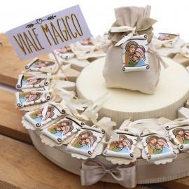 Torta Portaconfetti Appendino Pergamena Sacra Famiglia