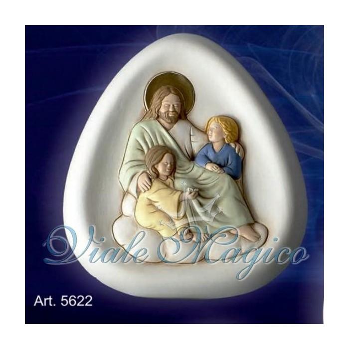 Bomboniera Icona Gesù con Bambini Taruschio Ceramiche